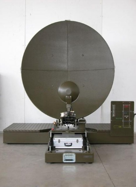 Antenna sat, in banda X - Ku